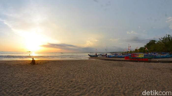Pantai barat Pangandaran tampak lengang, Jumat (29/5/2020).