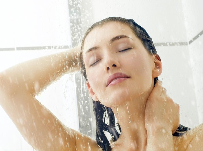 Ilustrasi mandi tanpa sabun