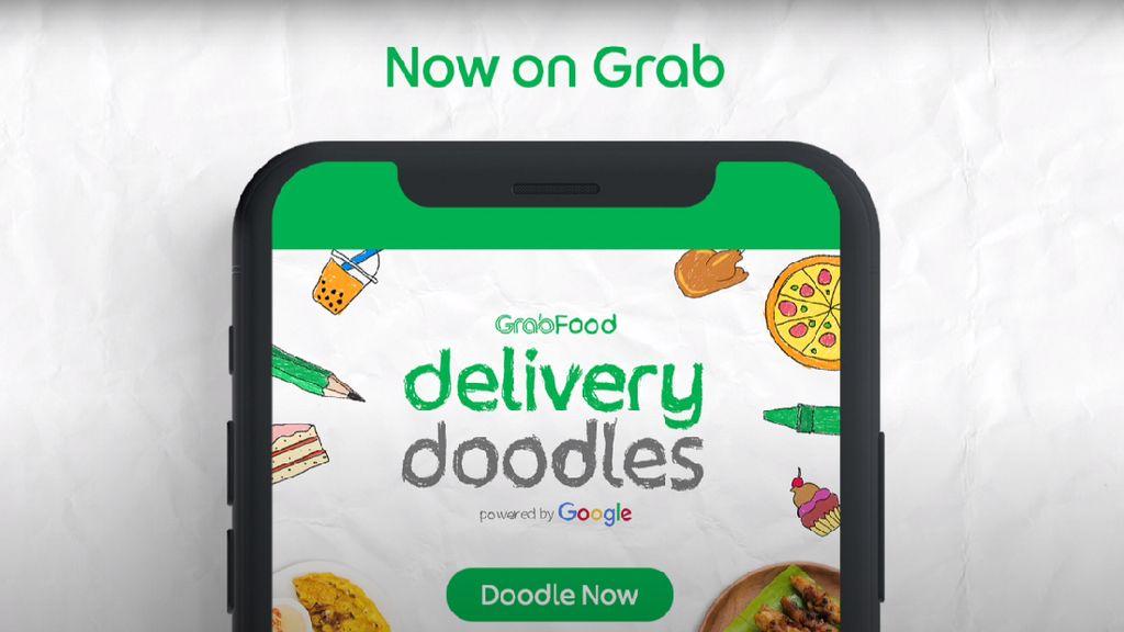 Pakai AI, Grab Delivery Doodles Ubah Coretan Anak Jadi Makanan