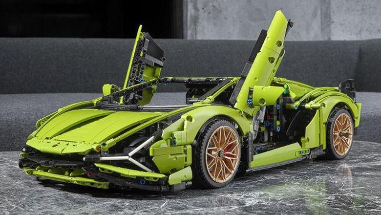 Lamborghini Sian versi Lego