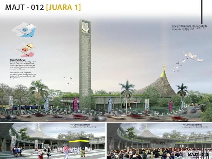 Pememang sayembara desain Masjid Agung Jawa Tengah (MAJT) Magelang, Jumat (29/5/2020).