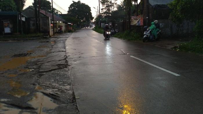 Kondisi Jalan Soemanta Diredja Kota Bogor yang sempat banjir