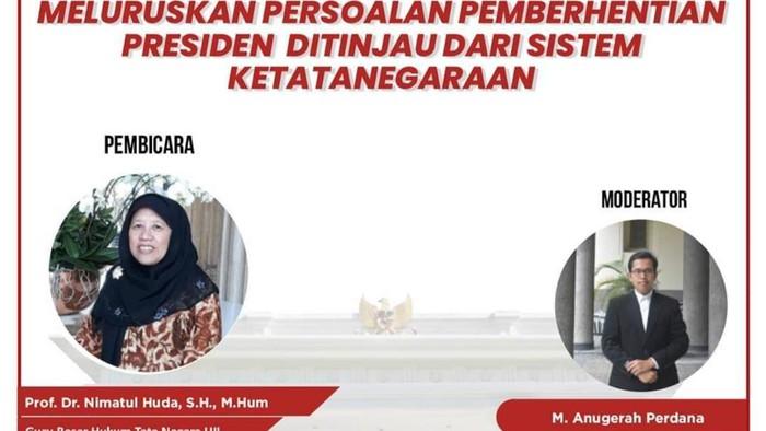 Diskusi Pemberhentian Presiden Ditinjau dari Sistem Ketatanegaraan oleeh CLS Yogya
