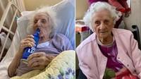 Sembuh Dari COVID-19, Nenek 103 Tahun Ini Rayakan dengan Minum Bir