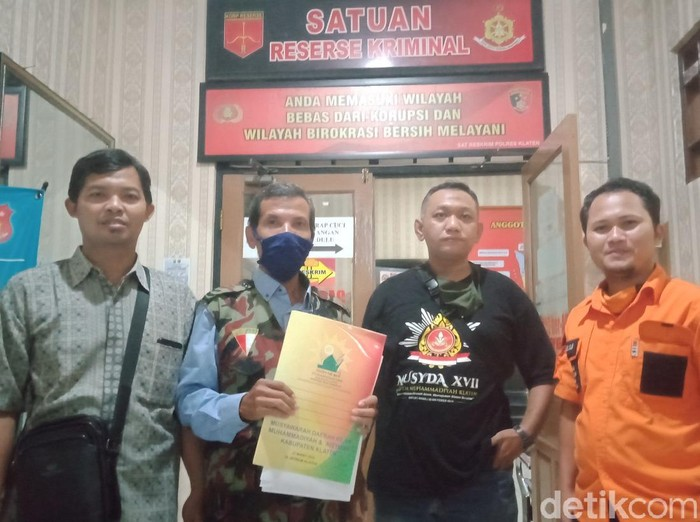 Para kuasa hukum PD Muhammadiyah Klaten mendatangi Polres Klaten, Sabtu (30/5/2020).