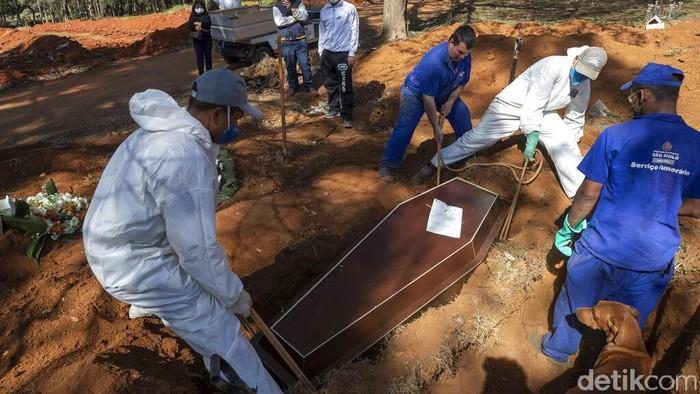 Pandemi virus Corona di Brasil kian mengganas. Jumlah kematian terkait COVID-19 di negara tersebut kini telah mencapai 27.878.