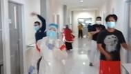 Usir Rasa Jenuh, Tenaga Medis di Makassar Senam Maumere