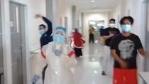 Usir Jenuh, Tenaga Medis dan Pasien Corona di Makassar Senam Maumere