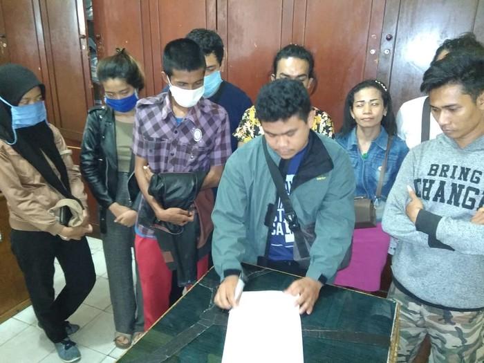 Para pihak terkait viral video pria bugil kabur dari hotel di Medan berdamai (dok. Istimewa)