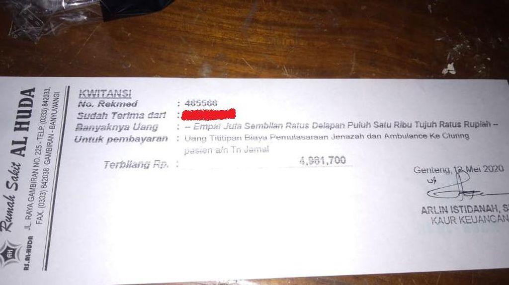 PDP Banyuwangi Meninggal Dikenakan Tarif Pemulasaraan dan Ambulan Rp 4 Juta