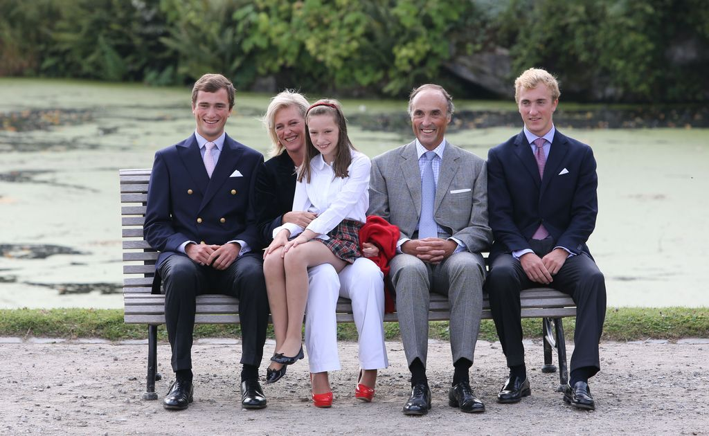 BRUSSELS, BELGIUM - SEPTEMBER 02: Prince Amedeo, Princess Astrid, Princess Maria Laetitia, Prince Lorentz and Prince Joachim of Belgium attend the Belgian Royal Family official photocall at Laeken Castle on September 2, 2012 in Brussels, Belgium. (Photo by Mark Renders/Getty Images)