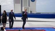 Saksikan Peluncuran SpaceX, Trump Lagi-lagi Tanpa Masker