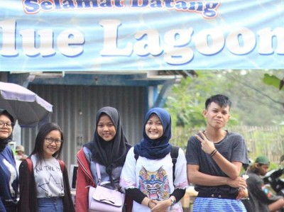 Blue Lagoon Pemandian Alami dan Asri di Yogyakarta