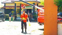 Jejak Penyerangan Pria Bersamurai ke Polsek Daha Selatan