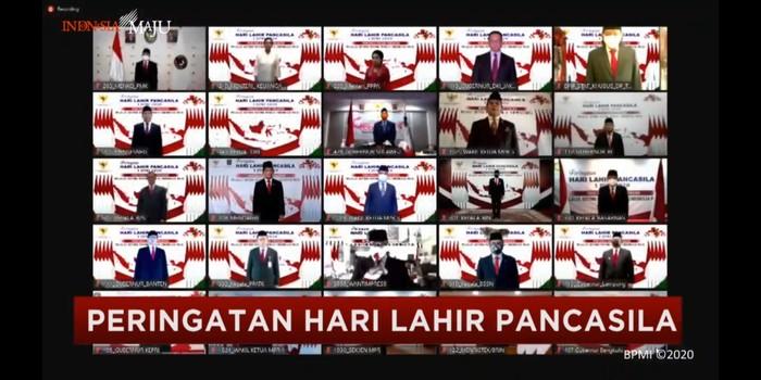 Peringatan hari lahir Pancasila secara virtual