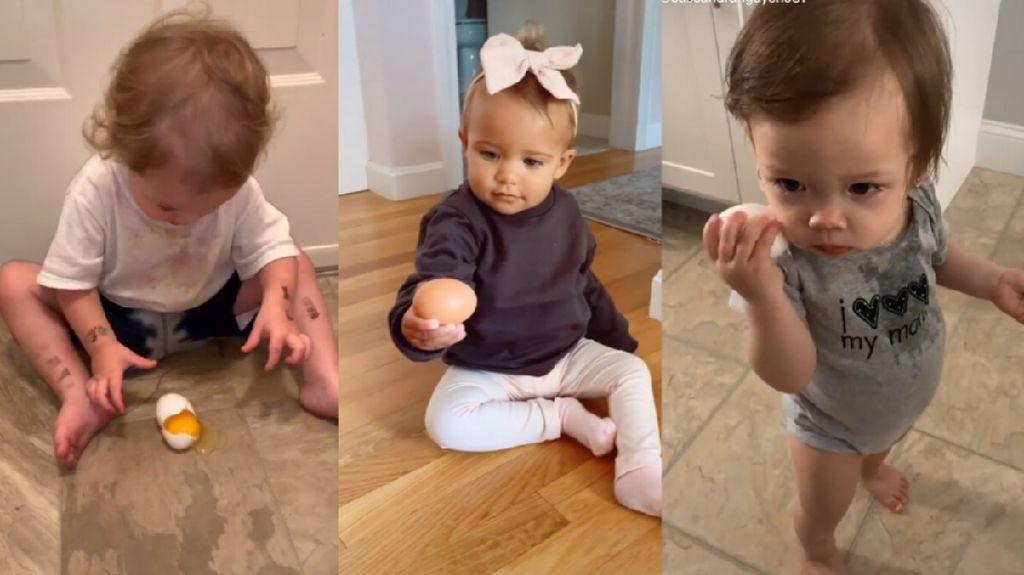 Kocak! Bayi Pegang Telur Jadi Tren Terbaru di TikTok