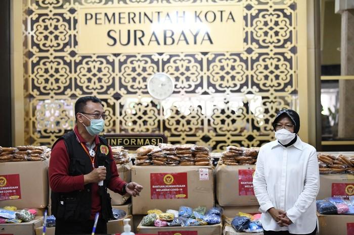 Pemerintah Kota (Pemkot) Surabaya kembali menerima bantuan dari Badan Intelijen Negara (BIN) berupa 120 ribu masker non medis.