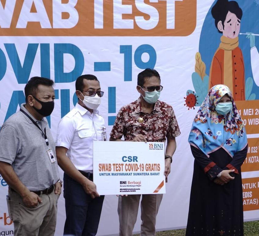 BNI Berikan 2.000 Test Swab Gratis di Sumatera Barat. Ist