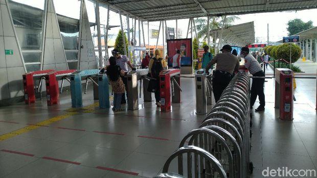 Kondisi Stasiun Bogor, Selasa (2/6) pukul 08.00 WIB