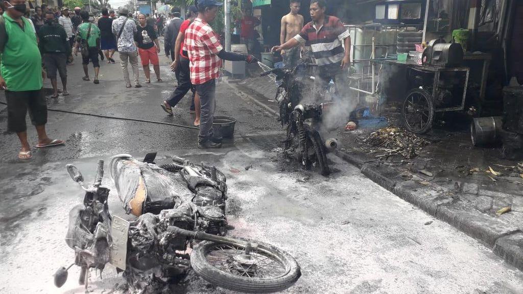 Mesin Penggiling Tebu Meledak Sambar Kios Bensin, 2 Orang Terluka Bakar