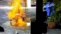 Bahaya Betul, Motor Ini Terbakar Setelah Disemprot Disinfektan