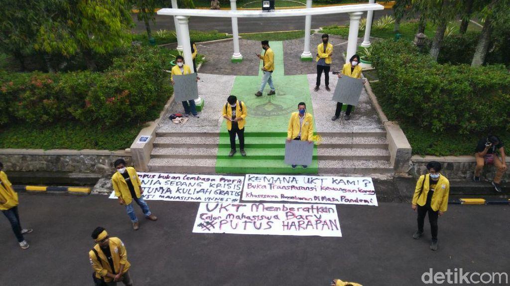 Mahasiswa Unnes Demo Minta UKT Dikembalikan untuk Ringankan Beban Saat Pandemi
