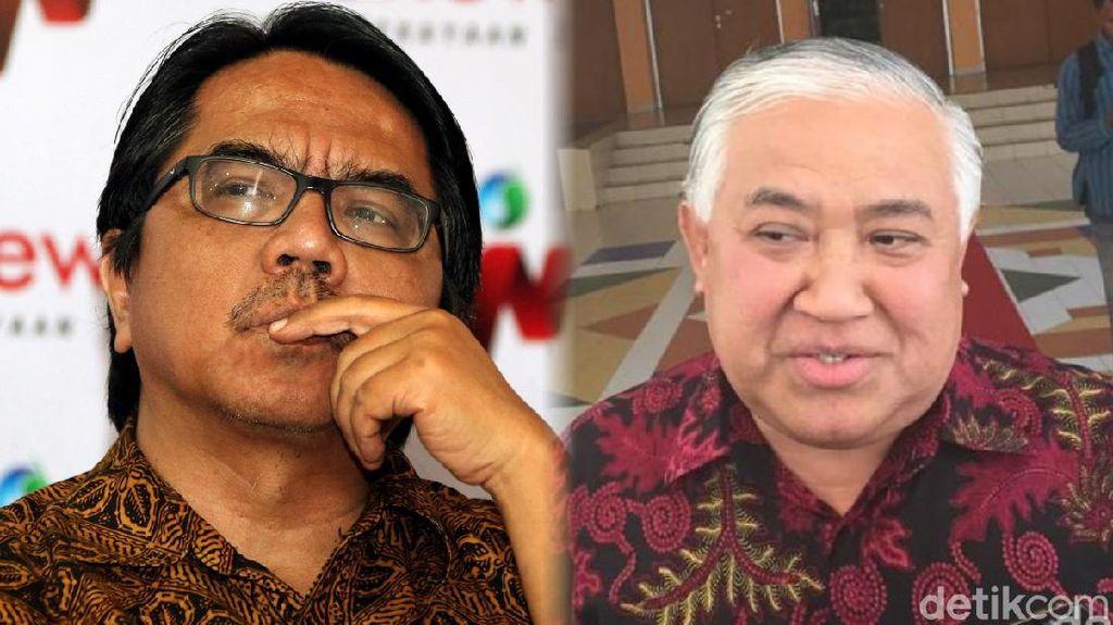 Beda Din Syamsuddin dan Ade Armando Soal Diskusi Pemakzulan Jokowi