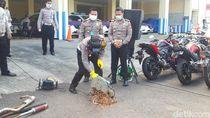 302 Motor Berknalpot Brong dan Dipakai Balap Liar Disita Selama PSBB