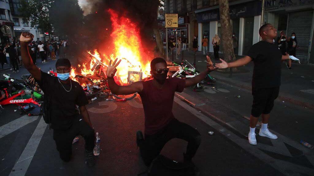 Menjalar ke Paris, Unjuk Rasa Dukung George Floyd Berujung Rusuh