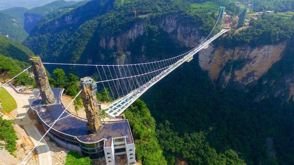 Indahnya Jembatan Kaca Tertinggi dan Terpanjang di Dunia
