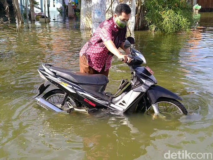 Banjir rob di Kota Pekalongan, Rabu (3/6/2020).