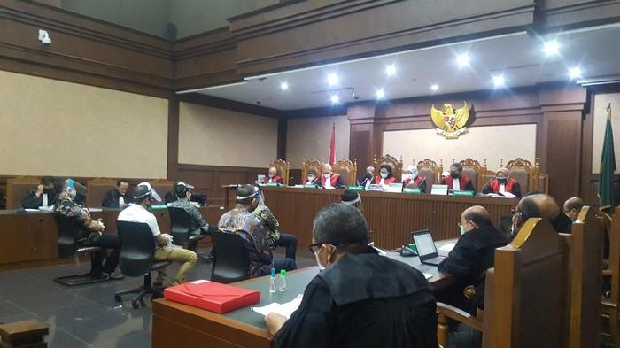 Sidang dakwaan kasus Jiwasraya. (Foto: Zunita/detikcom)