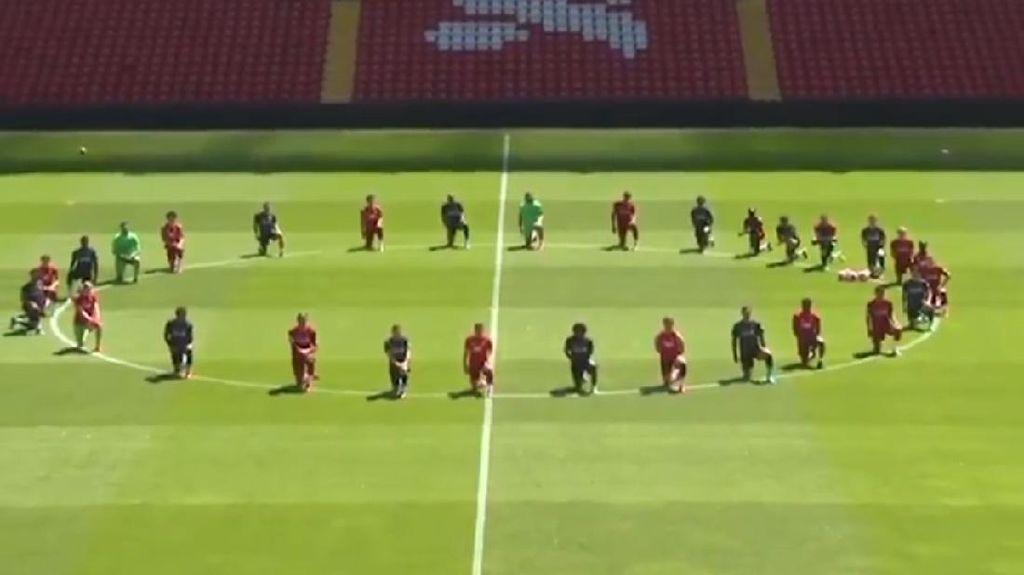 Liverpool Berlutut Dukung Aksi Protes Kematian George Floyd