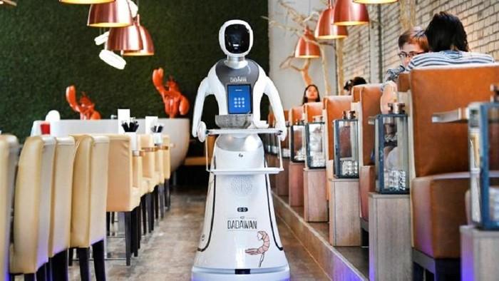 Restoran pekerjakan robot di Maastricht, Belanda.