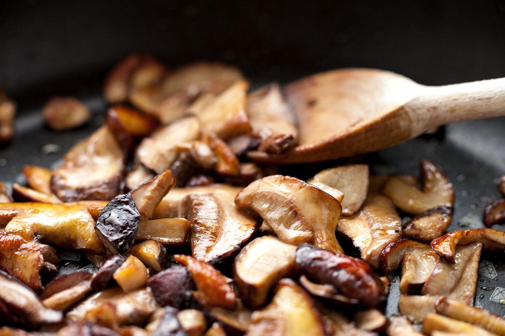 Roti Panggang Topping Jamur