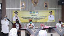 Salurkan Bansos JPS dari Pemprov, Bupati Serang Imbau Dibelikan Sembako