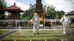 Penerapan Protokol Kesehatan di Pura Kerta Jaya Tangerang