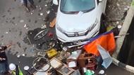 Sopir Ngantuk Seruduk Gerobak hingga Ambruk di Selatan Jakarta