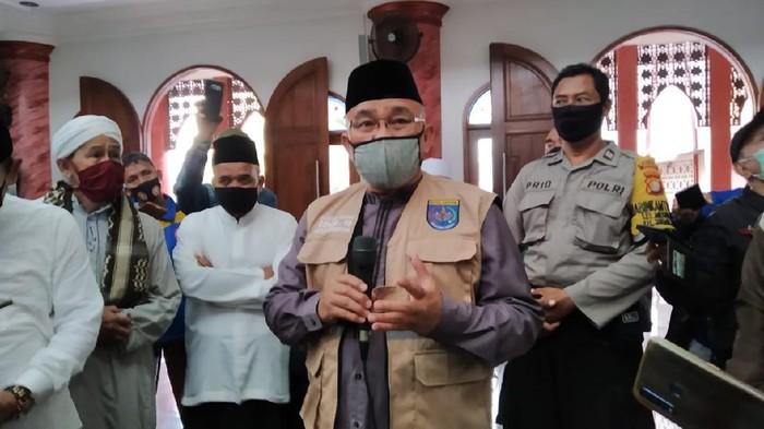Wali Kota Depok M Idris Cek Kesiapan Salat Berjamaah di Masjid Jelang New Normal