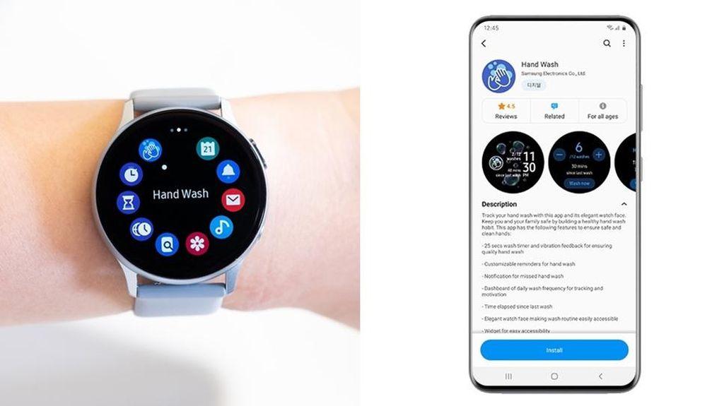 Samsung Bikin Aplikasi Cuci Tangan Buat Galaxy Watch