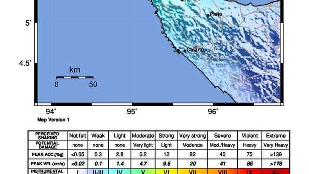 Gempa M 4,8 Guncang Aceh, Sejumlah Bangunan Rusak