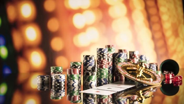 Ilustrasi dadu di kasino Las Vegas