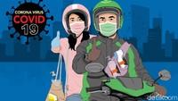 Ojol Dilarang Angkut Penumpang di Zona Merah Corona DKI Jakarta