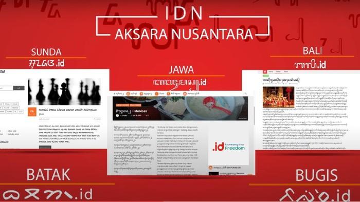 Pengelola Nama Domain Internet Indonesia (Pandi) berencana mempersiapkan pendaftaran domain internet dengan aksara daerah Sunda, Bali, Rejang, Batak, Bugis, dan Makassar.