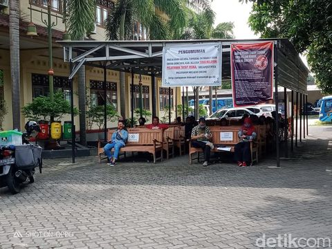 Suasana kantor Disdukcapil Klaten, Kamis (4/6/2020).