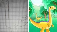 Ketika Ilustrator Menyulap Hasil Gambar Anak Kecil