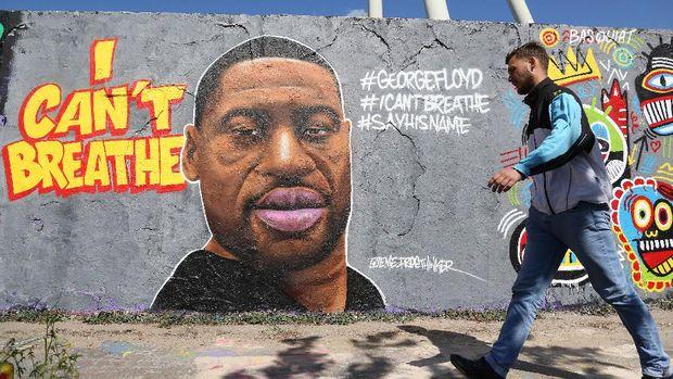 Mural bergambar George Floyd hiasi berbagai negara dunia. Diketahui, kematian George Floyd jadi momentum untuk menyuarakan penghapusan diskriminasi dan rasisme.