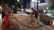 Begini Penampakan Balon Udara 6 Meter yang Jatuh di SPBU Sragen