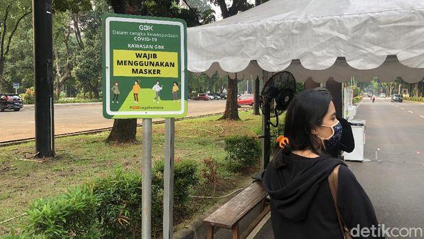 Suasana 'New Normal' di Ring Road GBK, Pengunjung Wajib Pakai Masker