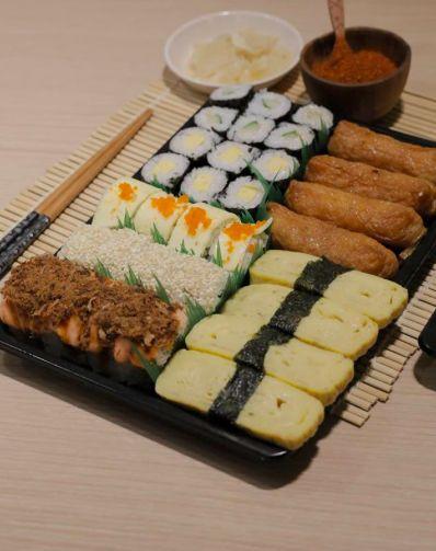 Tempat beli sushi platter